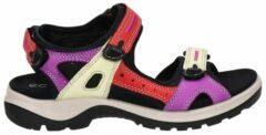 Ecco Offroad suède sandalen rood/paars