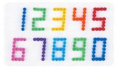 Witte Hama beads Hama strijkkralen grondplaat - Nummers