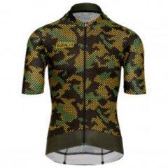 Bioracer - Epic Jersey - Fietsshirt maat M, zwart/olijfgroen/bruin
