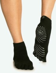 Gaiam Grippy Yoga Socks - Anti-slip Yogasokken - Zwart / Grijs