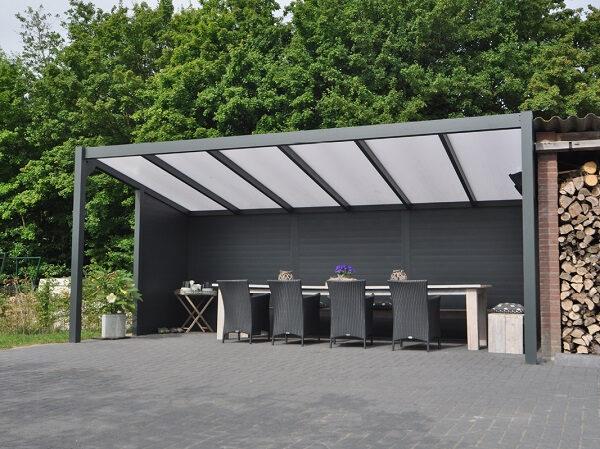 Afbeelding van Van Kooten Tuin en Buitenleven Profiline terrasoverkapping - vrijstaand - 600x350 cm - polycarbonaat dak