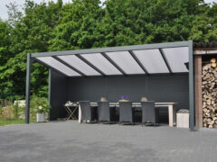 Van Kooten Tuin en Buitenleven Profiline terrasoverkapping - vrijstaand - 600x350 cm - polycarbonaat dak