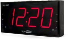 Zwarte Caliber Wekkerradio | HCG007 | FM Radio | Groot Display | Dual Alarm | Snooze Functie | Sleeptimer |Dimfunctie
