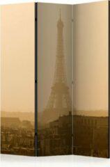 Bruine Kamerscherm - Scheidingswand - Vouwscherm - Paris at Dawn [Room Dividers] 135x172 - Artgeist Vouwscherm