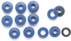 Blauwe ABC-Led Zeilringen - ogen voor dekzeil - 10 stuks