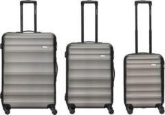 Packenger Koffer Packenger Timber 3er Set in Schwarz
