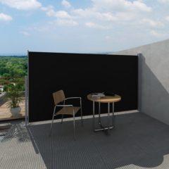 Zwarte VidaXL - Zonnescherm Uittrekbaar wind- / zonnescherm 160 x 300 cm - zwart
