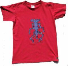 B & C Anha'Lore Designs - Alien - Kinder t-shirt - Rood - 12/14j (152/164)