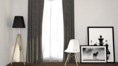 Licht-grijze Larson Geweven Blackout Gordijn - Met Haken - Lichtgrijs - 300x250 cm - Kant en Klaar