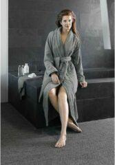 Grijze De Witte Lietaer Badjas Excellence Dark Grey - Large