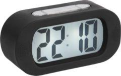 Karlsson Wekkers Alarm clock Gummy rubberized Zwart