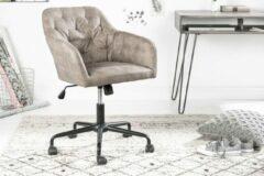 Interieurs online Bureaustoel COMFORT taupe met doorgestikte stiksels