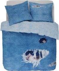 Blauwe Cover & Co Covers & Co Ripped Jeans - Dekbedovertrek - Lits Jumeaux - 240 x 220 - Blue