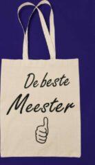 Naturelkleurige Kimano Katoenen tas voor De Beste Meester - cadeautje - leerkracht - bedankje