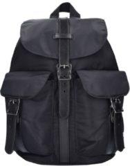 Classic Dawson Womens Backpack Rucksack 29 cm Herschel black-black died veggie tan leather