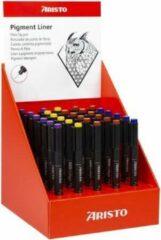 Zwarte Pigmentliner Aristo GeoCollege display met 30 pennen AR-VD23012