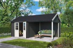 Outdoor Life Products Outdoor Life | Blokhut Fraya | Carbon Grey | 595 x 295 cm