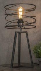 Zaloni Tafellamp Twister Ø27 van 50 cm hoog - Charcoal