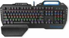 Nedis GKBD400BKUS Mechanisch Gamingtoetsenbord Rgb-verlichting Us Internationaal Metalen Design