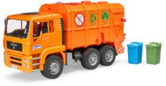 Bruder MAN TGS vuilniswagen (oranje) 1:16 - Logistiek
