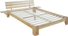 Heute-wohnen Bett Perth, Doppelbett, Massivholz incl. Lattenrost Ablage Kiefer