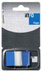 Info Notes Info Flags 25X43Mm Blauw Blister À 50 Stuks