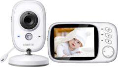 Witte Orretti® V8 Babyfoon met camera - EXTRA batterij inbegrepen - Nederlandse Handleiding - Groot LCD scherm - Sterk Zendbereik - 2020 Upgrade Versie