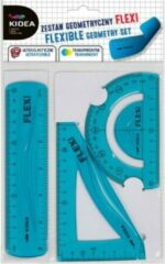 Kidea Geometrie-set Flexibel Junior 15 Cm Blauw 3-delig