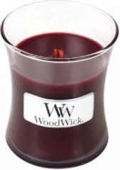 Rode Woodwick Hourglass Mini Geurkaars - Cherry