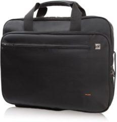 Zwarte Gino Ferrari Crius 16 inch laptoptas