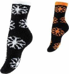 Merkloos / Sans marque Kerstsloffen Sneeuwdesign - 2 Paar - One Size - Maat 35-42 Unisex Maat One size