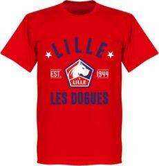 Merkloos / Sans marque OSC Lille Established T-Shirt - Rood - XXXXL