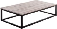 Möbel Ideal Couchtisch Solidon 135x75 cm in Wildeiche / Metall