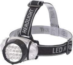 BES LED Led Hoofdlamp - Aigi Heady - Waterdicht - 35 Meter - Kantelbaar - 18 Led's - 1.1w - Zilver Vervangt 9w