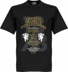Merkloos / Sans marque Manchester United Trophy Collection T-Shirt - Zwart - 5XL