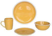 Cosy & Trendy Serviesset oranje geel 16-delig Inca Cosy&Trendy