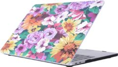 Gele Mobigear Hardshell Case Bloemen Serie 27 Macbook Pro 13 inch Thunderbolt 3 (USB-C)