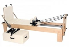 Pilates Reformer Ahorn 'therapeutic Leg' (inkl. Sitting Box Und Jump Board) - Creme Yogistar Multicolor