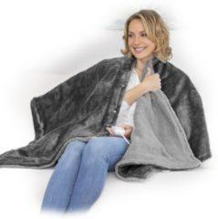 Antraciet-grijze Medisana HB 677 - Elektrische deken- 160x 130 cm