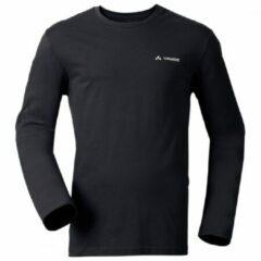 Vaude - Brand L/S Shirt - Longsleeve maat S, zwart