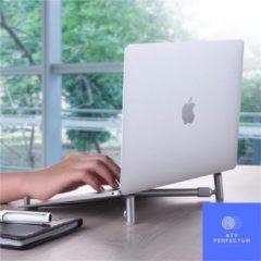 Zilveren ATV PERFECTUM ATV laptop standaard opvouwbaar – laptop standaard verstelbaar – Gratis verzending - laptop standaard 15 inch – laptop standaard 16 inch – laptop standaard 17 inch – standaard laptop - laptop ondersteuning – laptop houder – stand –