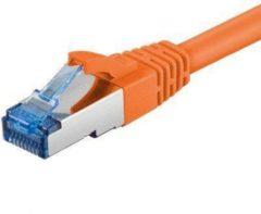 Goobay DSIT Netwerkkabel Cat6a SSTP/PIMF 1,50m oranje