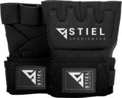 Stiel Sports Stiel Binnenhandschoenen - Gel - met strap - Zwart met wit