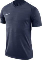 Nike Tiempo Premier SS Jersey Teamshirt Heren Sportshirt performance - Maat XL - Mannen - blauw/wit