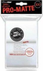 Ultrapro Sleeves Pro-Matte - Standaard Wit (100 stuks)