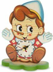 Bartolucci Tafel Klok Pinokkio Hout Bartolucci 1 Stuks Meerdere Kleuren Hout