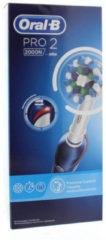 Oral B Oral-B Elektrische Tandenborstel - Pro 2 2000N Blauw + 1 Opzetborstel
