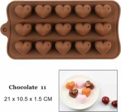 Bruine WiseGoods - Chocolade Vorm - Bakken - Siliconen Cakevorm - 3D DIY Chocolate - Hart Vorm - Non-Stick
