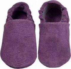 Hobea Babyslofjes paars suede met reliëf (Loop)