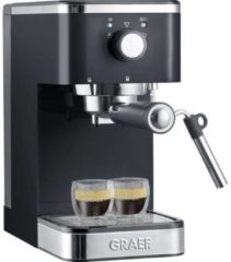 Grijze Graef Espresso piston machine ES402 compact 14 cm breed 1400 Watt